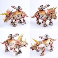 Dinosaur Series Triceratops 3D Assembly Puzzle Early Learning Educational Toys for Children Christmas Gifts