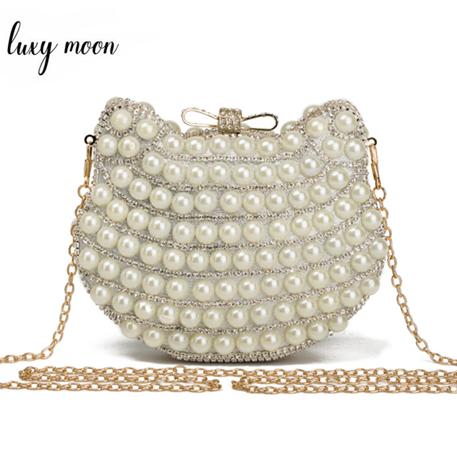 85bf8fdbec4b1 New arriving Pearl evening bags cat head shape beaded clutch bags summer  style party bag famous brand design purse and handbags