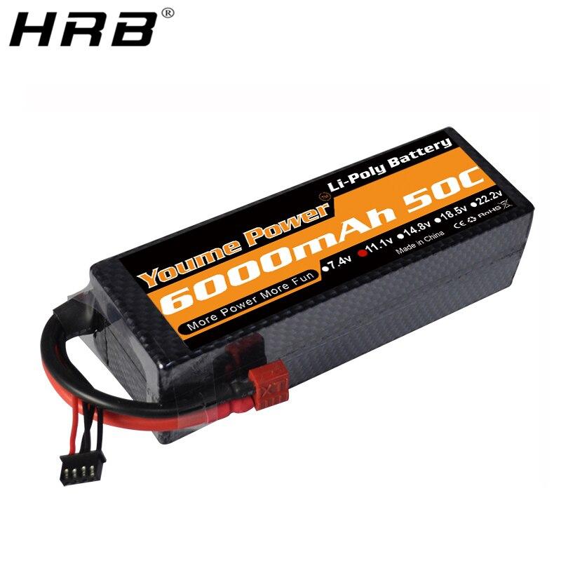 Youme 3S 6000mah Lipo Battery 11 1V T Deans XT60 Hard Case XT90 EC5 EC3 RC