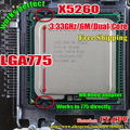 INTEL XEON  X5260 3.33GHz cpu /6M/1333Mhz/CPU equal to LGA775 Dual-Core E8400 E8500 E8600 CPU,works on mainboard no need adapter