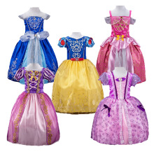 Girls Rapunzel  Cinderella Princess Dress kids Snow White Sleeping Beauty Sofia Aurora Costume Party Cosplay