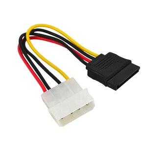 Image 5 - Marsnaska excellente 1 pièces série ATA SATA 4 broches IDE à 15 broches HDD adaptateur dalimentation câble adaptateur de disque dur mâle à femelle câble