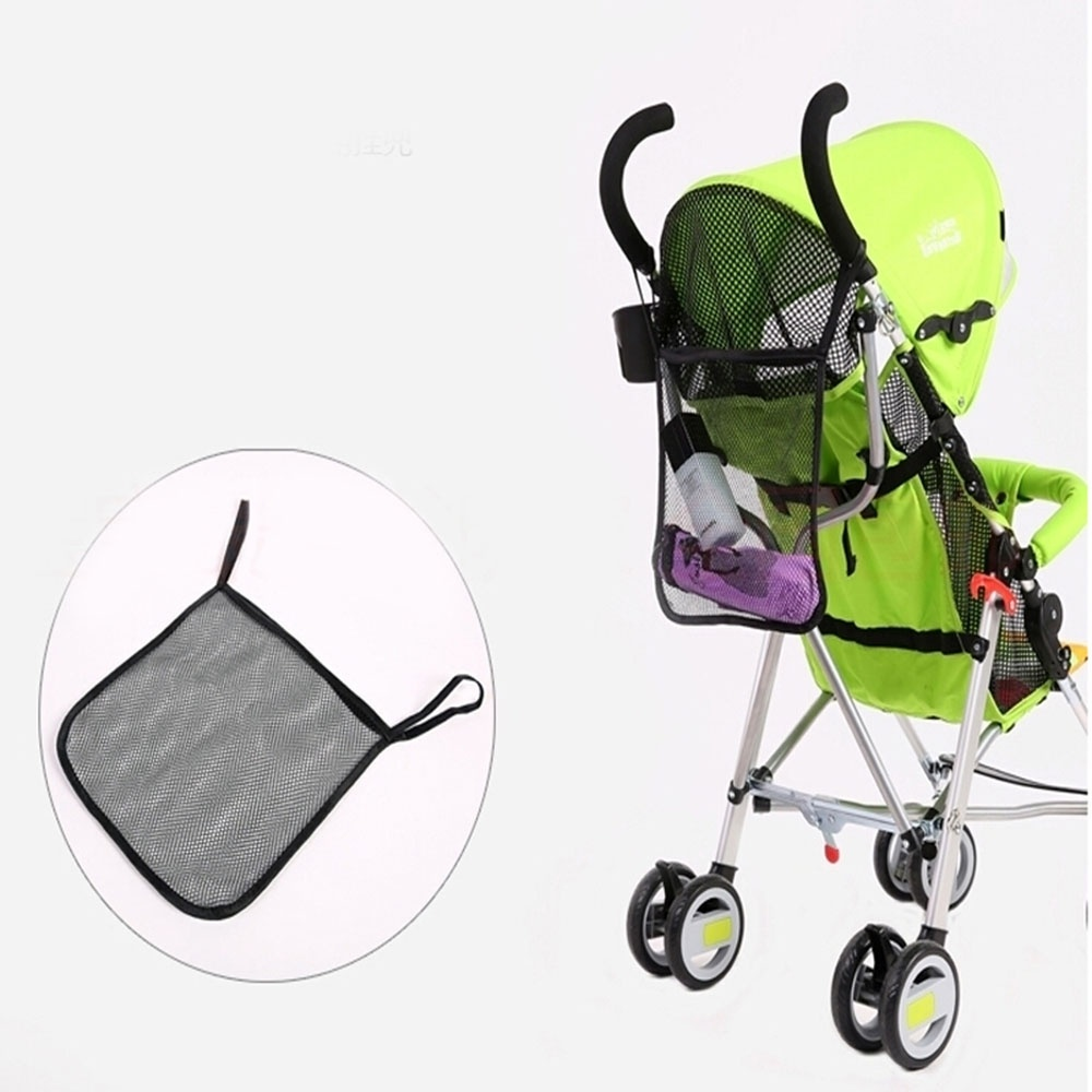 Infant Baby Pushchair Stroller Mesh Carry Bag Hanging Pram Net Storage Bag Baby Stroller Carrying Bag Baby Activity Supplies