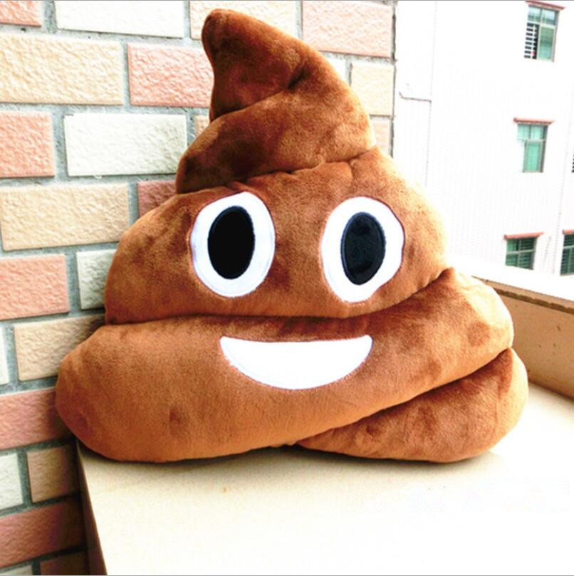 ФОТО giant size 35cm hot sale cute emoji pillows poop poo smiley emotion soft cushions stuffed plush toy doll christmas gift for girl