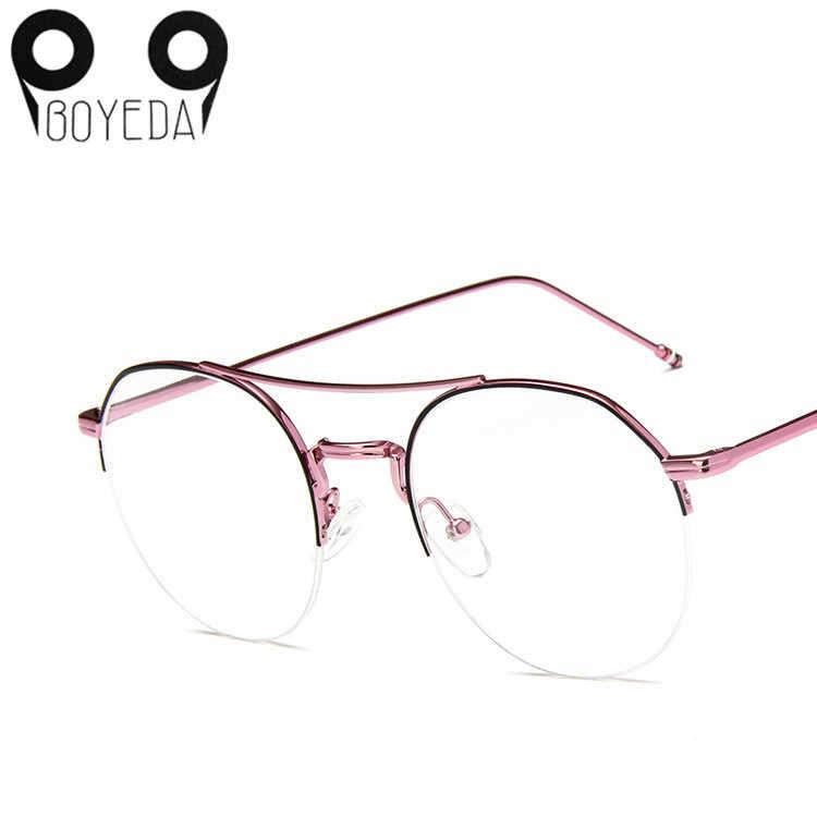 b150fa1c6e8 ... BOYEDA Vintage Round Eyeglass Frames for Women Men Metal Prescription  Spectacles Frame for Round Face Retro ...