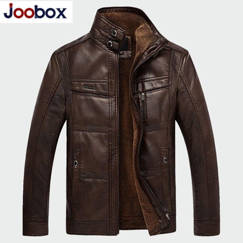 Dropshipping Leather Jacket Men Jaqueta De Couro Masculina Men's Thick PU Leather Coat Men Casual Winter Faux Fur Fleece Jacket