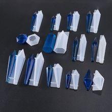 Pack de 13 moldes de fundición de silicona péndulo, Moldes de resina epoxi de cono, Péndulo de piedra de resina, colgante con forma de pilar de resina UV