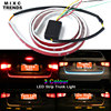 MIXCTRENDS Ice Blue Red Yellow Flow 335 LED Strip Rear Trunk Tail Light Dynamic Streamer Brake