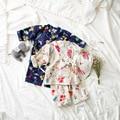 Primavera 2017 de Los Niños del Desgaste Ropa Kimono Pijamas Del Bebé Niños Traje de Muebles Para El Hogar Japonés Explosión de Nueve Manga