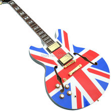Guitar high quality custom electric guitar flag British white hollow body free shipping