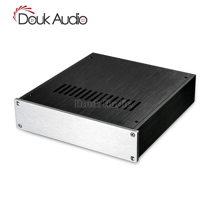 Douk Audio Aluminium Pre-Amp Case Amplifier Chassis DAC Cabinet HiFi Enclosure queenway audio bz2012rkv aluminium amplifier chassis multi amplifier case 202mm 143mm 362mm 202 143 362mm