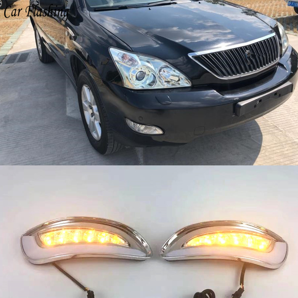 2Pcs For Lexus RX330 RX350 2003 2004 2005 2006 2007 2008 2009 LED Daytime Running Lights