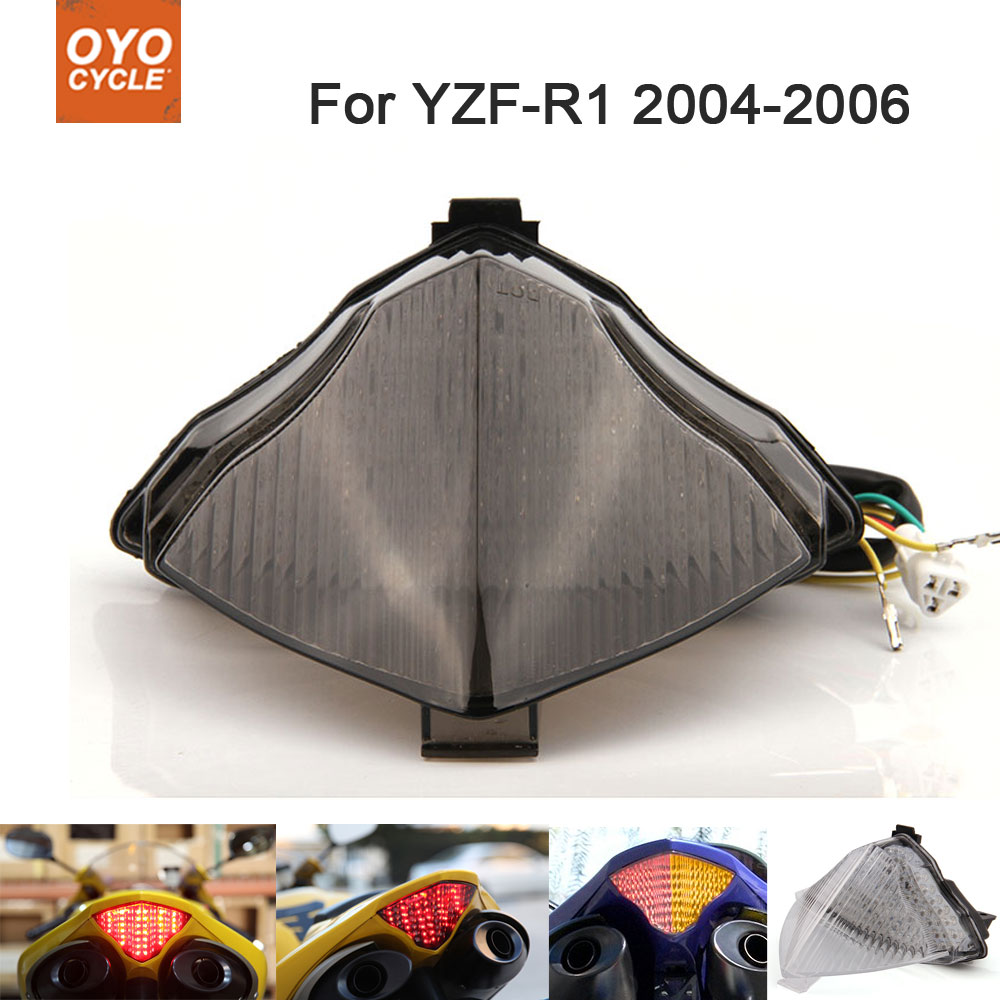Motorcycle Integrated <font><b>LED</b></font> Tail <font><b>Light</b></font> Brake Turn Signal Blinker For <font><b>Yamaha</b></font> YZF <font><b>R1</b></font> YZF-<font><b>R1</b></font> 2004 2005 2006 image