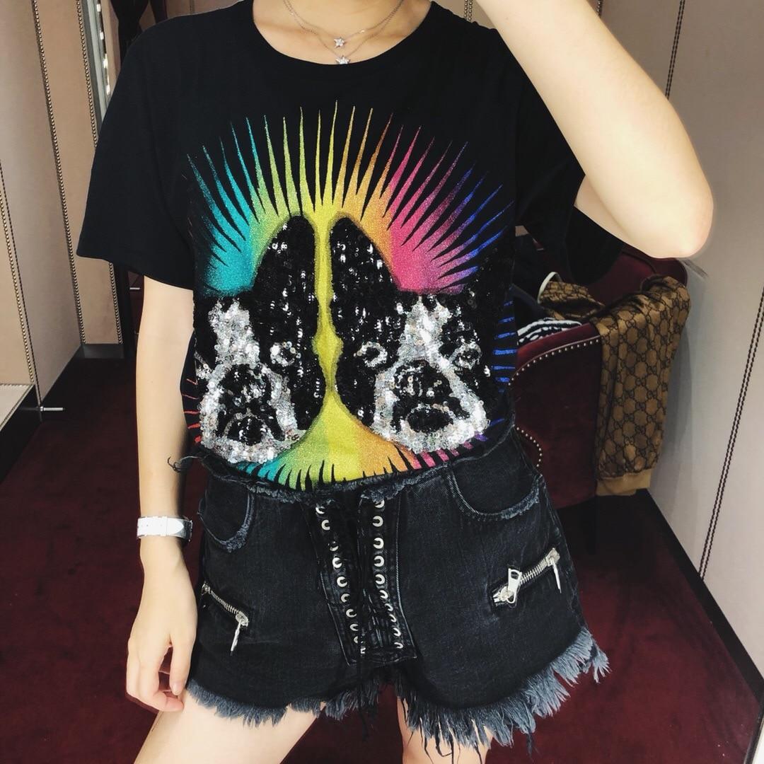 2019 newPrinted coton T-shirt 1 couleurs 3 tailles printemps vêtements femmes
