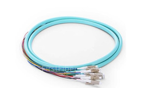 Image 3 - 3 m 12 Fiber Codino LC SC FC UPC 50/125 Multimodale OM3 Mazzo 12 core In Fibra Ottica Della Treccia 0.9 millimetri Rivestimento di PVC