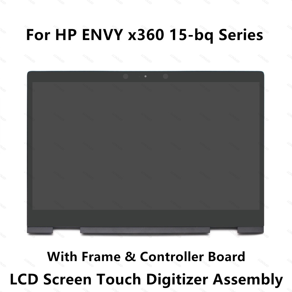 For HP ENVY 15-bq194nz 15-bq199nz 15-bq051sa 15-bq150sa 15-bq100nl 15-bq101nl 15-bq103nl LCD Display Screen Touch Glass Assembly ismaya 15 khalid