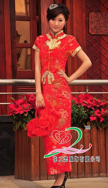 New style going on the market, the special price promotion, the Chinese dress, proposes a toast takes QDQP-006