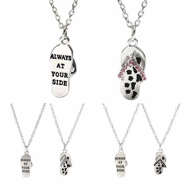 Always at your side crystal sandals flip flop pendant necklace pet always at your side crystal sandals flip flop pendant necklace pet paws prints animals memorial women aloadofball Images