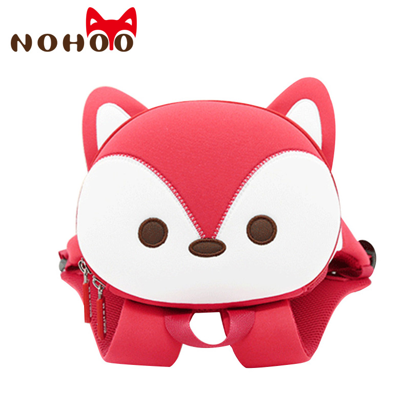 NOHOO Kids Backpack Waterproof 3D Animal Toddler Backpack Baby School Bags For Girls Children Harness Leash Backpack