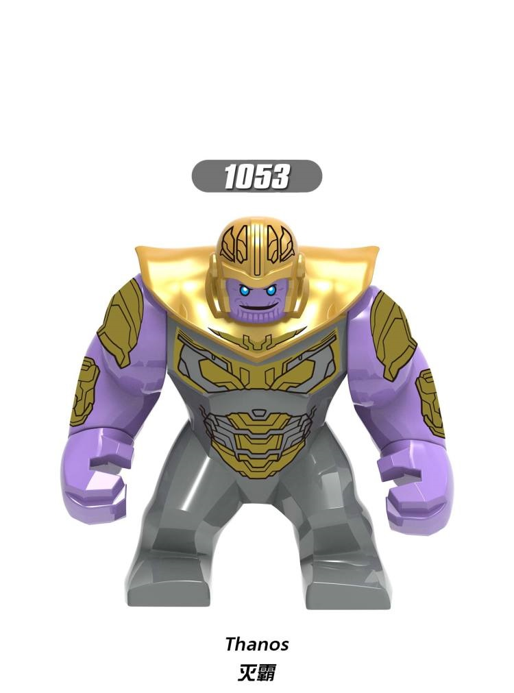 20pcs 7CM super heros Big Size Thanos Super Heroes Building Blocks Figures Best Gift For Children