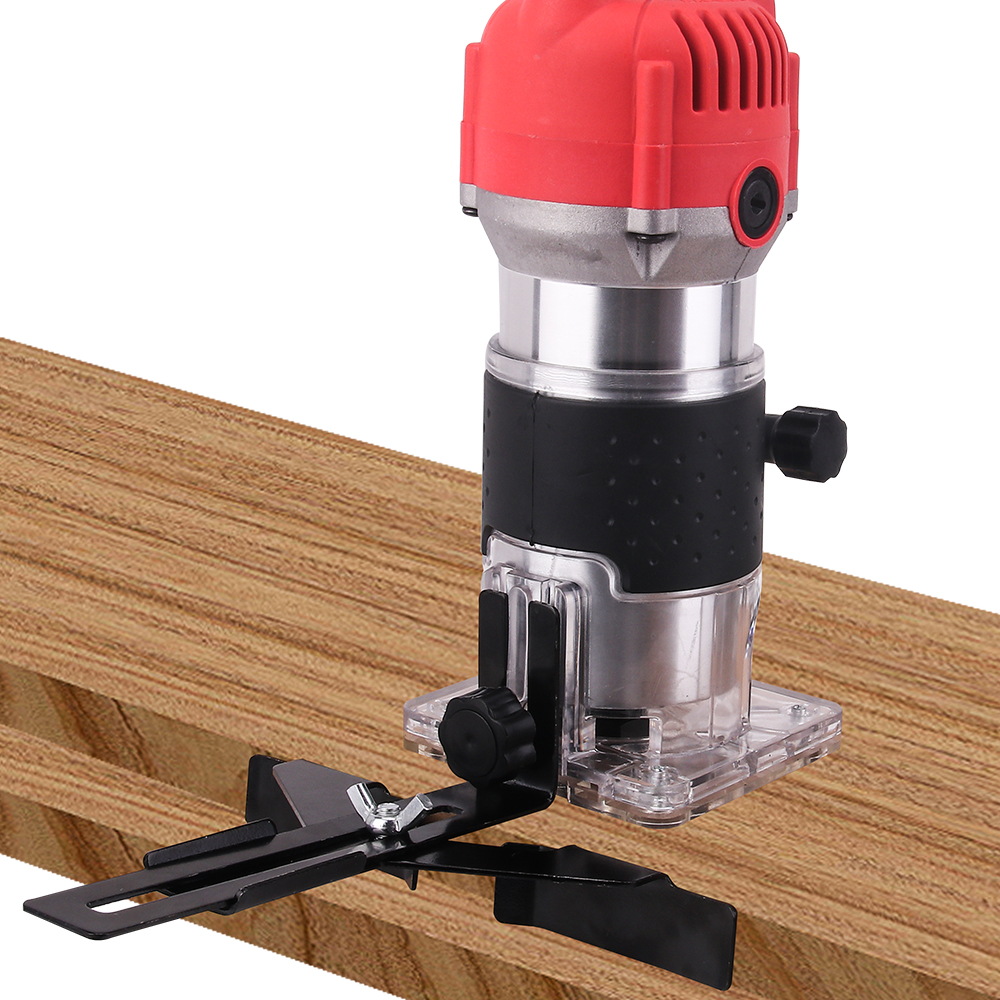 Image 5 - Woodworking Electric Trimmer 800W 30000rpm Wood Milling Engraving Slotting Trimming Machine Hand Carving Machine Wood Router-in Wood Routers from Tools