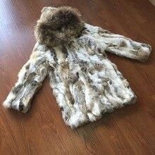 Натуральный мех кролика рекс длинное пальто с поясом женское Новое поступление модное Брендовое длинное пальто из натурального меха KFP537