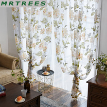 Elka modern floral tulle curtains for living room luxury sheer the bedroom kitchen window fabric