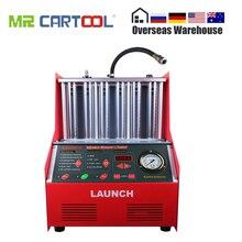 Запуск CNC602A автомобильный инжектор топлива, машина для очистки, ультразвуковой инжектор топлива, очиститель, тестер, инструмент для мытья, 6 цилиндров, DHL для Atuo