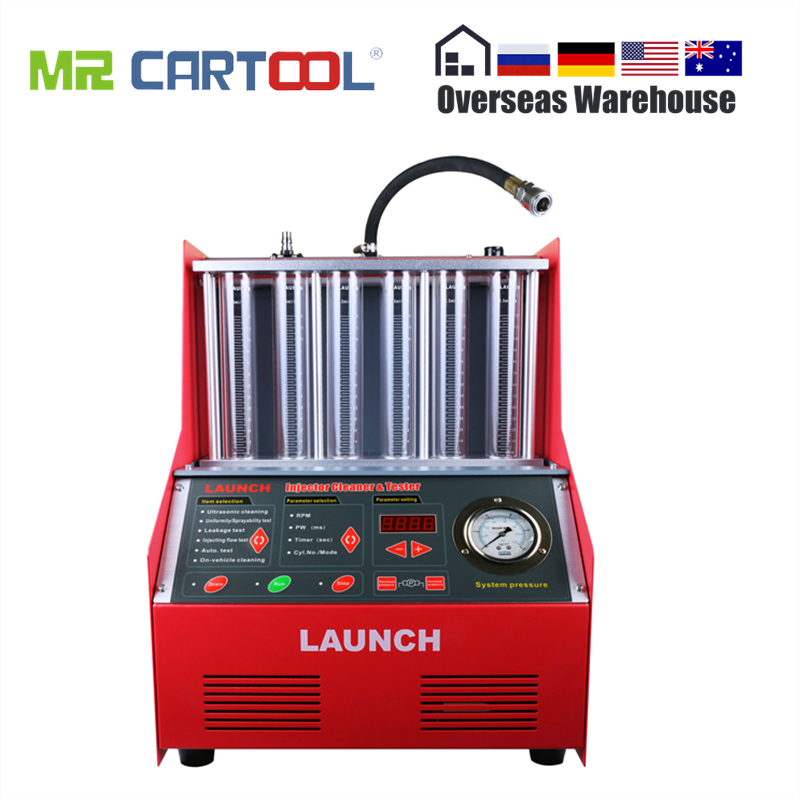 Launch <font><b>CNC602A</b></font> Car Fuel Injector Cleaning Machine Ultrasonic FUEL Injector Cleaner Tester Washing Tool 6 Cylinder DHL for Atuo image