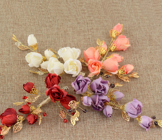 4 colors red flower hairpins hair pins bridal hair accessories wedding jewelry for brides free shipping 183