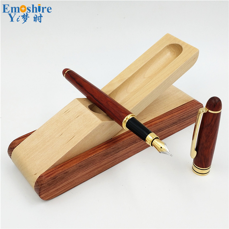 Free shipping Wood Ballpoint Pen Box Brand Roller Ball Pen for Business Writing Canetas Office Supplies Wood Pencil Case P214 купить