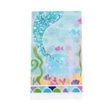 1 шт. одноразовая пластиковая скатерть с изображением русалки, скатерть на стол для мальчика с днем рождения 180*108 см