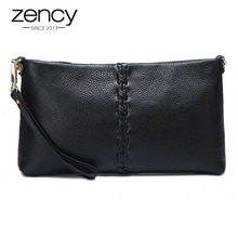 ФОТО zency 6 colors women day clutches soft cow skin 100% real leather lady messenger shoulder bag elegant fashion bolso mujer