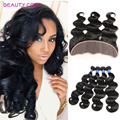 Peruvian Body Wave with Frontal Unprocessed 4pcs Peruvian Hair Weave Bundles with 13x4 Frontal Peruvian Virgin Hair Body Wave