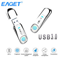 Eaget USB Flash Drive 64GB 32GB USB 3.0 Pen drive 64GB Fingerprint Encryption Metal Pendrive USB Stick 32GB Storage Flash Disk