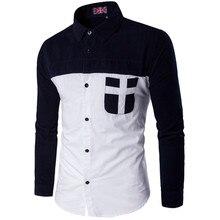 2017 New Autumn Men Jacket Print Fashion Patchwork Hoodie Winter Parkas Slim Fit Rider Biker Plus Size Casual Clothing z30