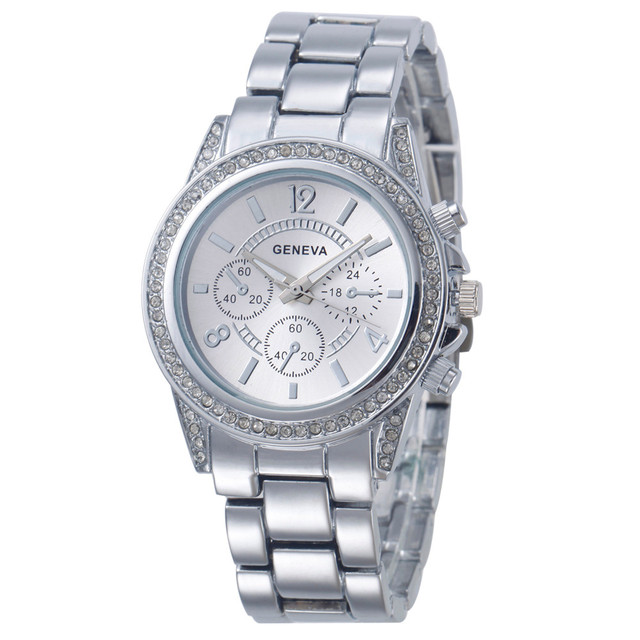 Stainless Steel Strap Casual Women Wristwatches 1