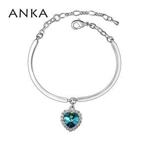 ANKA Heart Of The Ocean Bangle Main Stone Crystals from Austria #90141
