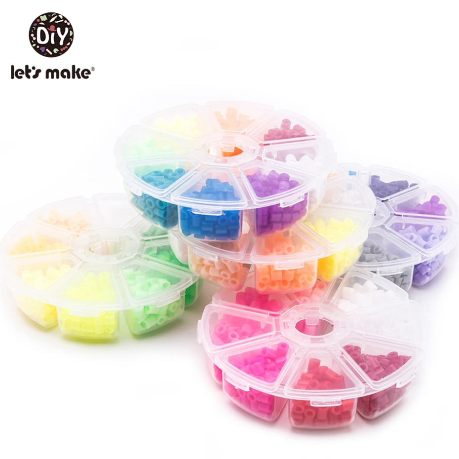 Let'S Make 1Set 8 Color Plastic Baby Beads Children'S Educational Toys Diy Magic Beads Puzzle Packed Magical Spelling Baby Toys