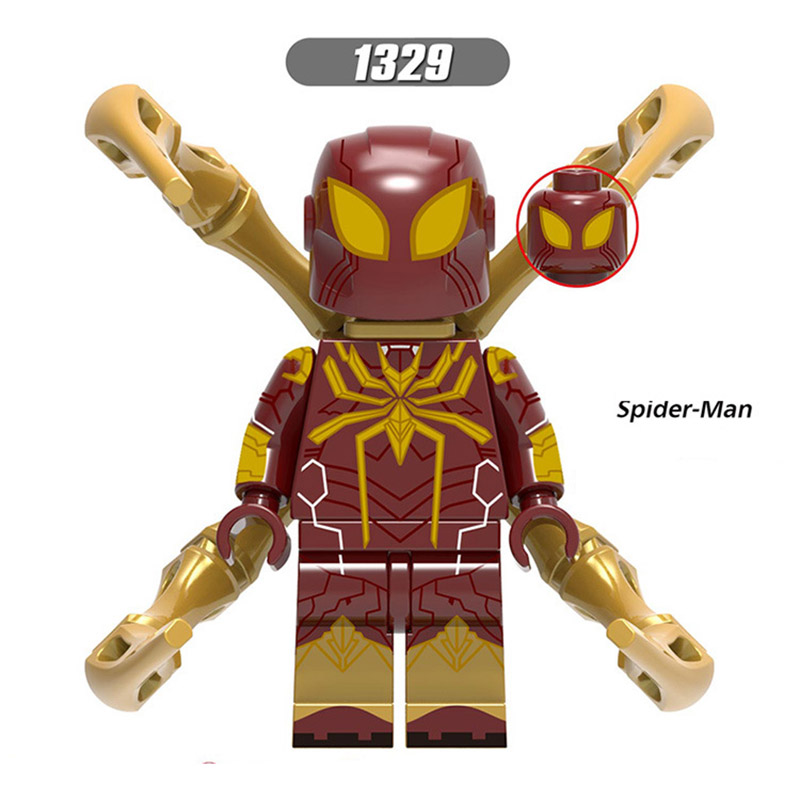 Single Sale LegoINGlys Far From Home Spider-Man MiniFigure Mysterio Maria Hill Hydro-Man Ned-Liz Bricks Action Toy Children Gift