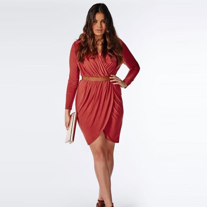 Popular Plus Size Wrap Dresses-Buy Cheap Plus Size Wrap Dresses ...