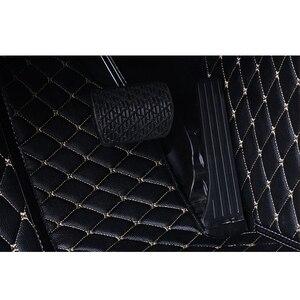 Image 5 - Кожаный Автомобильный Коврик для вспышки, напольные коврики для Volkswagen vw passat B3 B4 B5 B6 B7 B8 2000 2018, индивидуальные подставки для ног, чехол для телефона