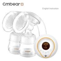 Cmbear מתקדם אינטליגנטי LCD בקבוקי USB עיסוי שד משאבת חלב חשמלי הזנה אוטומטי כפול שד חשמלי משאבות