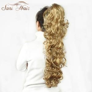 Image 3 - סורי נשים שיער הפאה קוקו תוספות שיער מזויף 32 inch גלי Claw 220 גרם שחור/בלונד 7 צבעים Avaliable