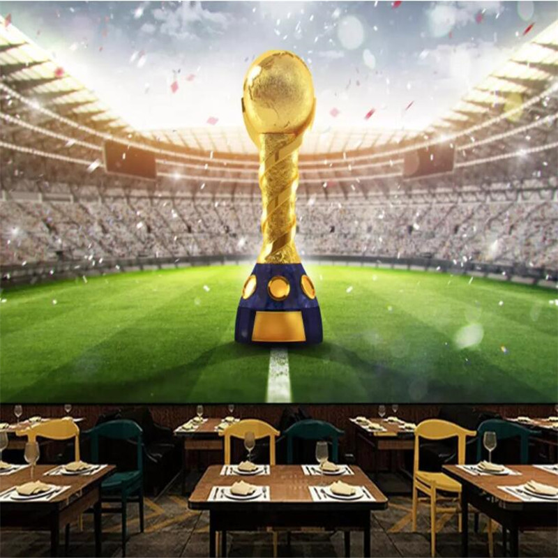 Us 957 35 Offustom Photo Wallpaper Retro 3d World Cup World Football Game Pattern Tv Background Home Decor Wallpaper In Wallpapers From Home