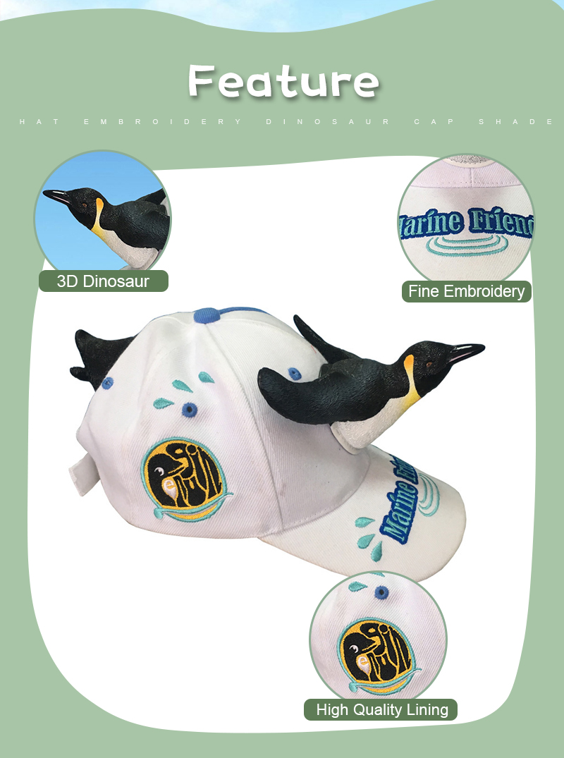 245900f3 2019 New Fashion 3D Cute Penguin Hat Cartoon Baseball Caps Men And Women  Christmas Gift Dad Haps White Blue Color Visor Cap. _01 _02 ...