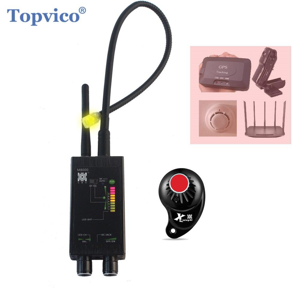 Topvico Pro Anti-espion Bug Finder sans fil caméra lentille détecteur de Signal caché GPS Tracker RF GSM dispositifs magnétique M8000 Scanner