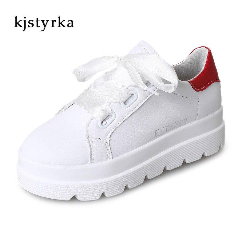 Bas Sneakers Kjstyrka argent Occasionnels Femmes L'épaisseur Dames or rouge Plat forme De Chaussures Blanc Noir blanc Le Plate Mujer Zapatos 2018 xwPOqFrAx