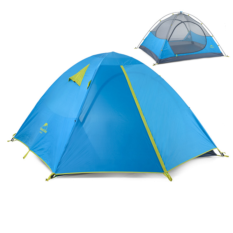 Naturehike 2-3 Person Camping Tent Waterproof Double Layer Tent Outdoor Dome Camping Family Tent NH16S002-S/NH16S003-S nh zurbano 3 мадрид