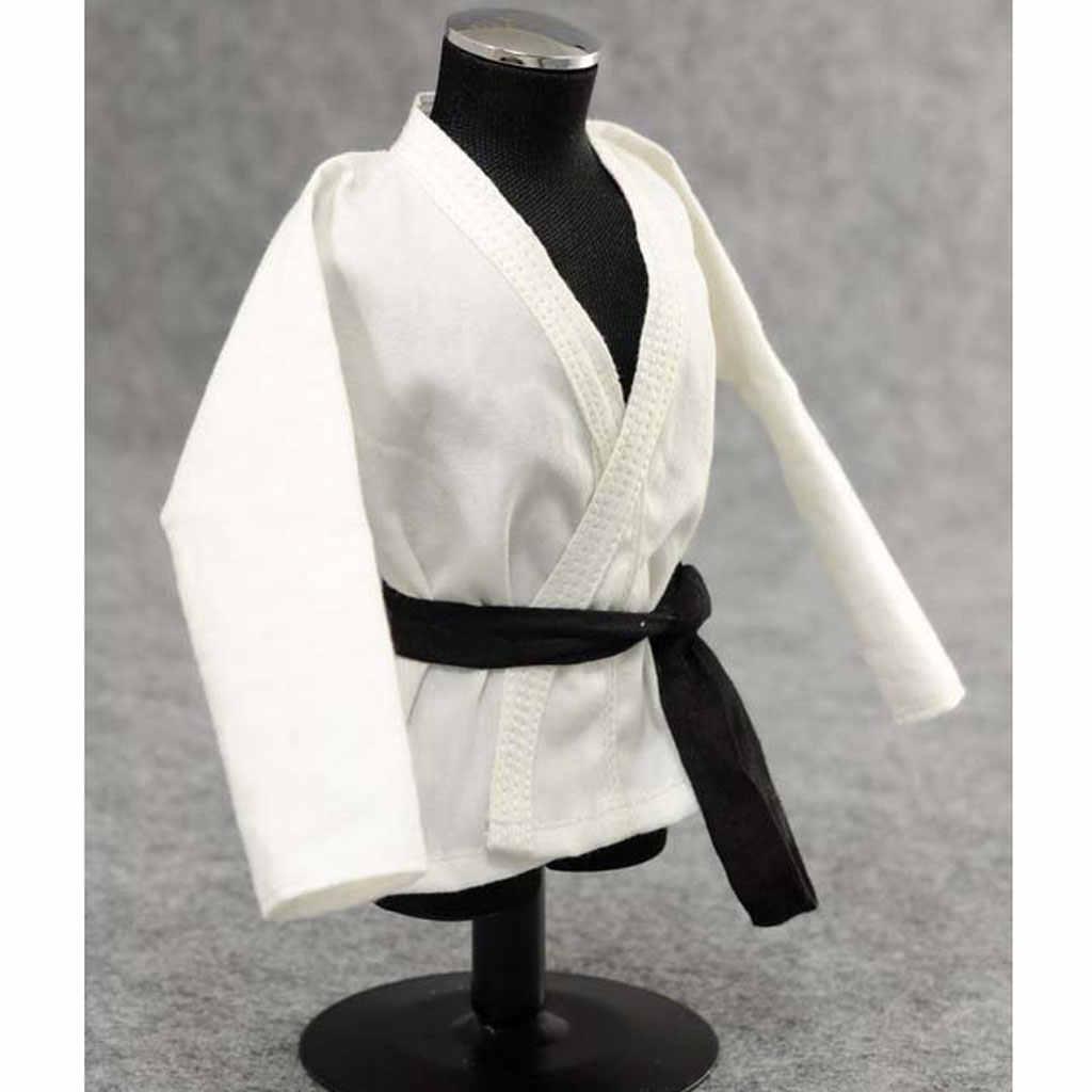 "1//6 Scala Judo Gi Bianco Uniforme Kung Fu Abito Per 12/"" Hot Toys Maschio Figura"